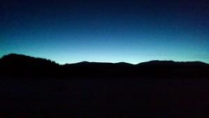 Sunset behind the Sawatch Range
