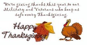 happy thanksgiving military